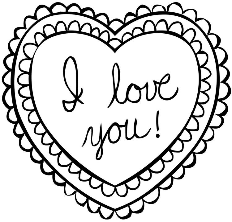 Valentines Day Coloring Pages I Love You