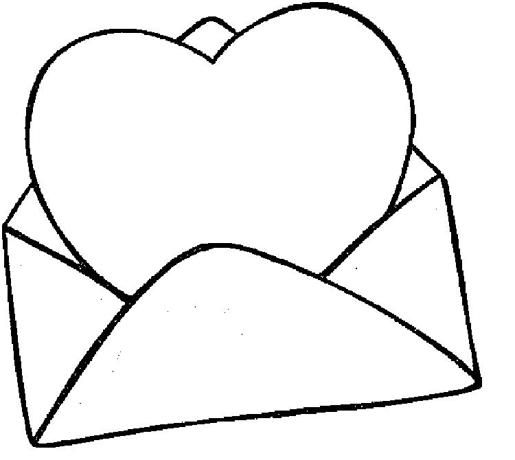 Valentines Day Coloring Pages Love Letter