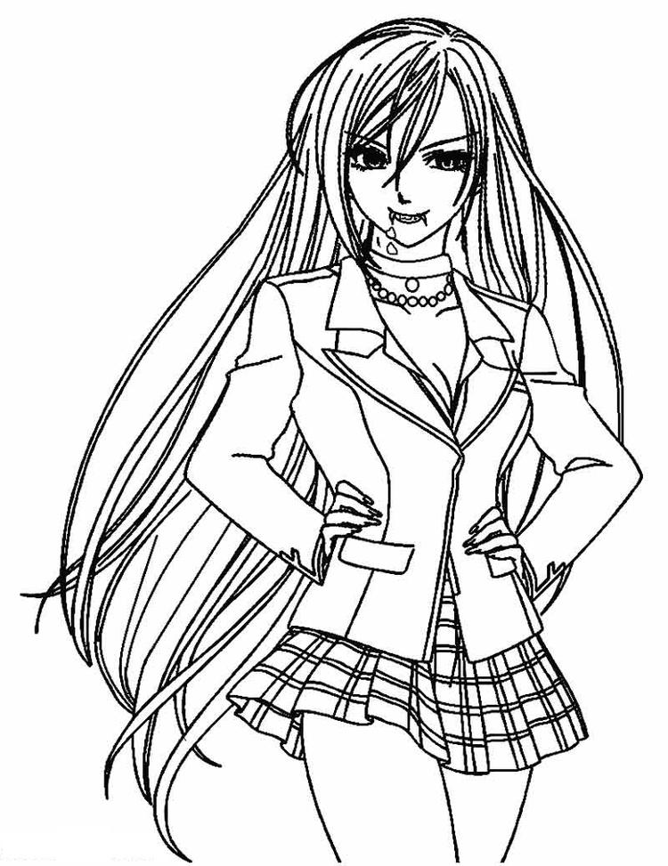 Vampire Coloring Pages Anime