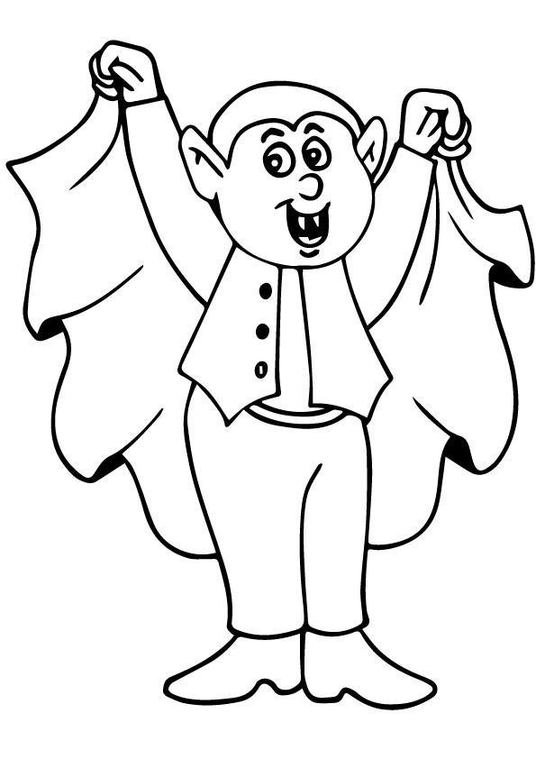 Vampire Coloring Pages For Kids
