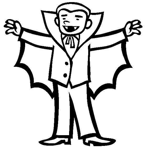 Vampire Coloring Pages For Preschooler