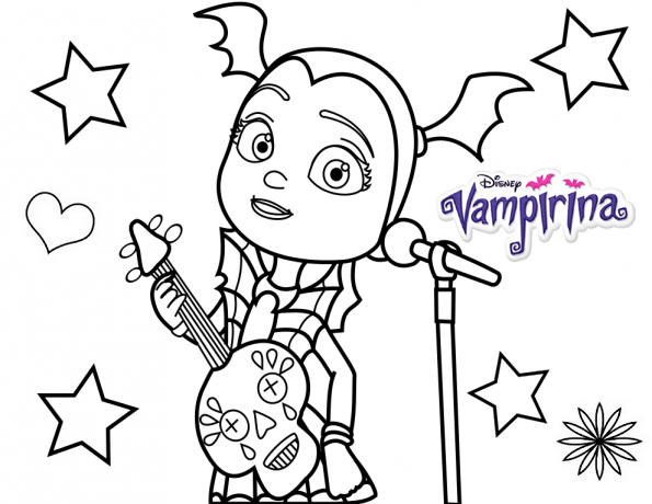 Vampirina Singing In Special Concert Coloring Page