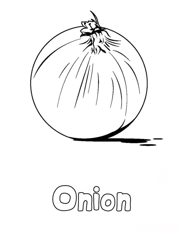 Vegetable coloring pages onion