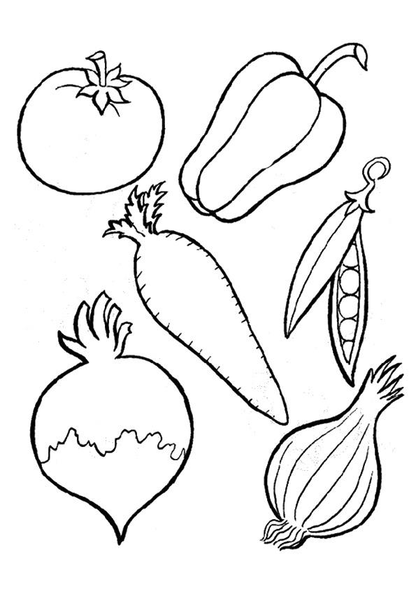 Vegetable Coloring Pages To Print