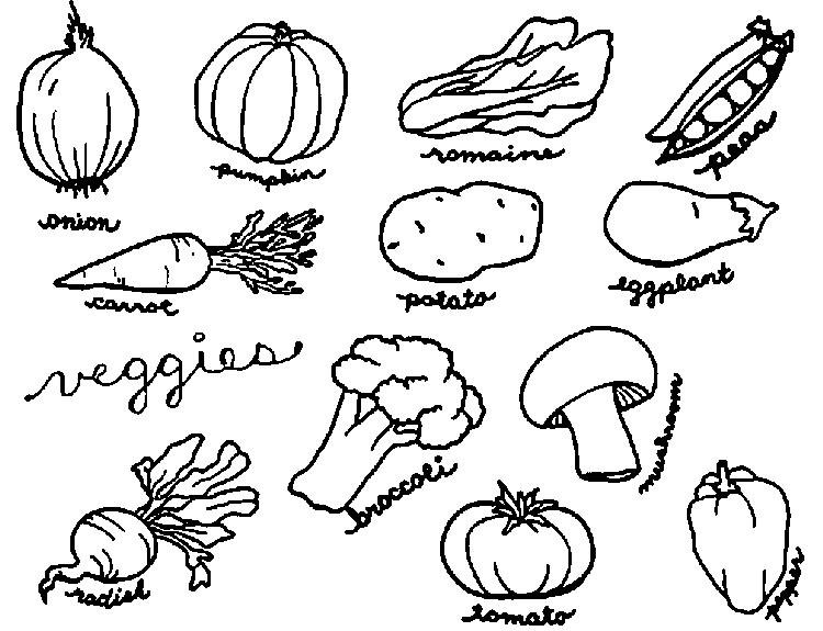 Vegetable Coloring Pages With Names