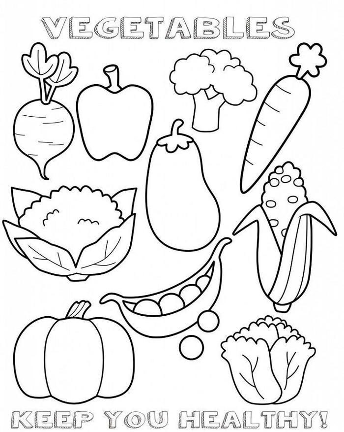 Vegetables Coloring Pages For Children