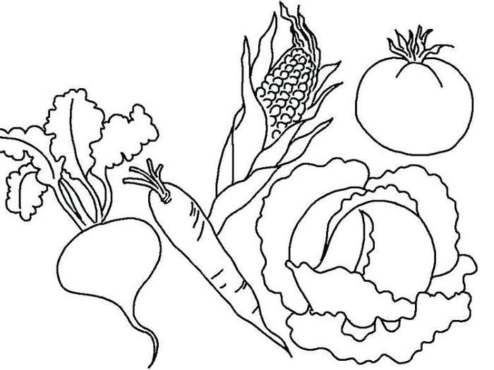 Vegetables Coloring Pages For Kids