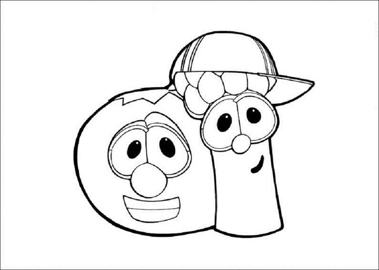 Veggie Tales Coloring Pages Bob And Junior