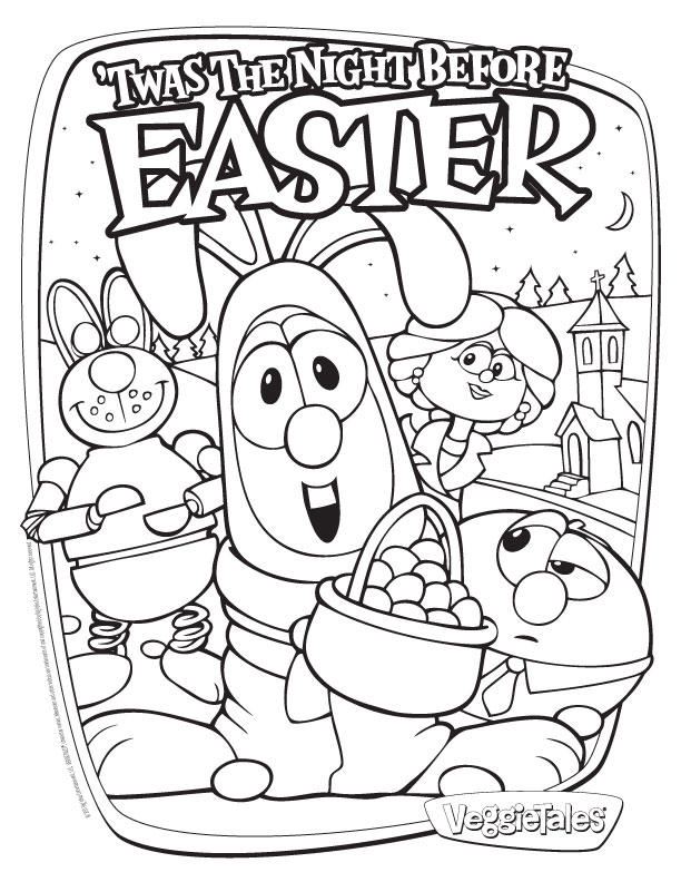 Veggie Tales Coloring Pages Easter