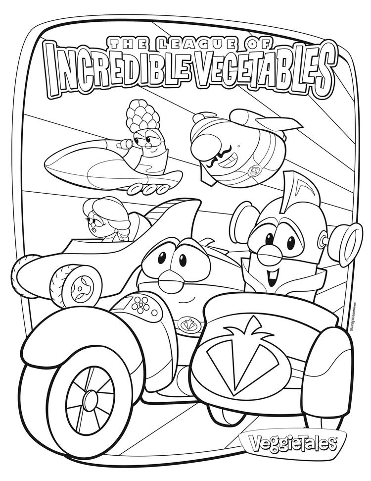 Veggie Tales Coloring Pages Incredible Vegetables