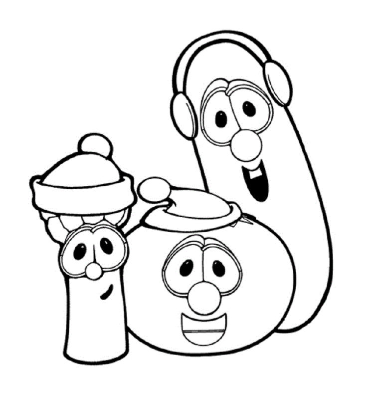 Veggie Tales Coloring Pages Junior Bob And Larry