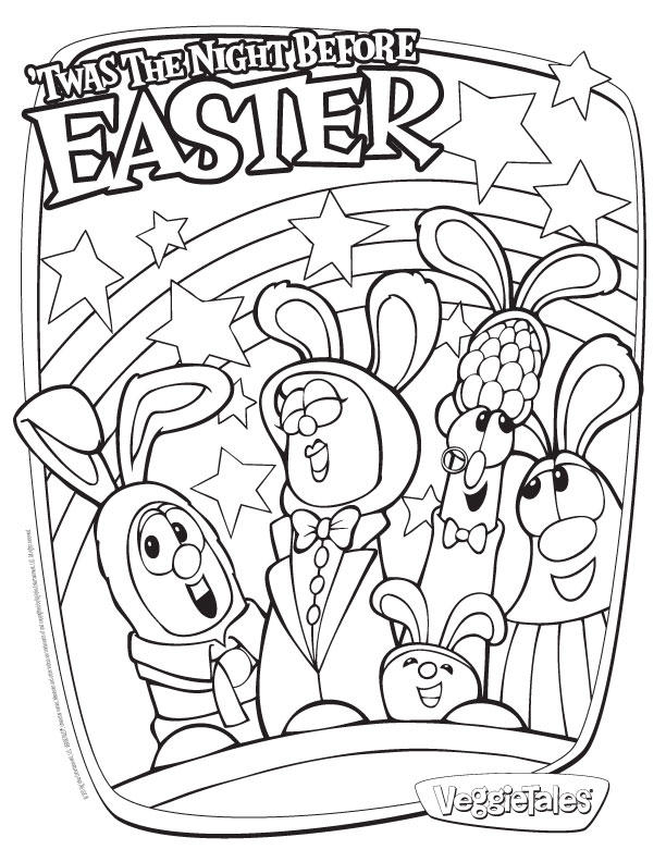Veggie Tales Coloring Pages Night Before Easter