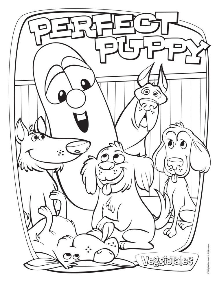Veggie Tales Coloring Pages Perfect Puppy