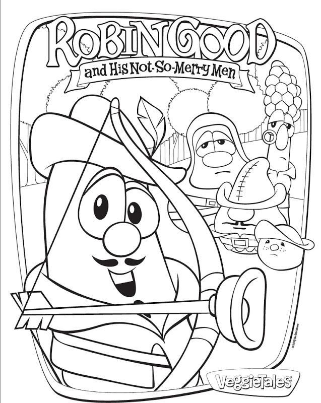 Veggie Tales Coloring Pages Robin Good