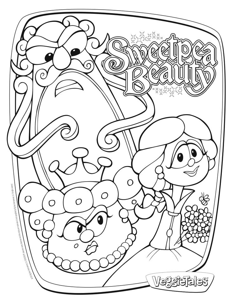 Veggie Tales Coloring Pages Sweetpea Beauty