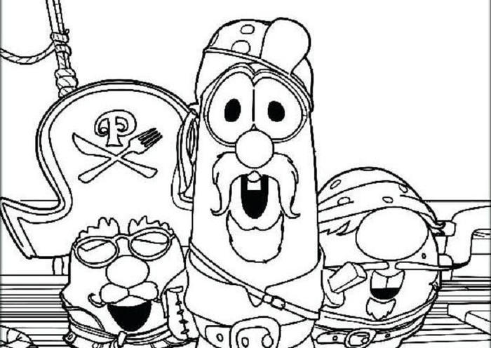 Veggie Tales Pirate Coloring Pages