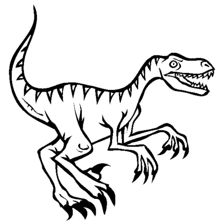 Velociraptor Dinosaur Coloring Pages