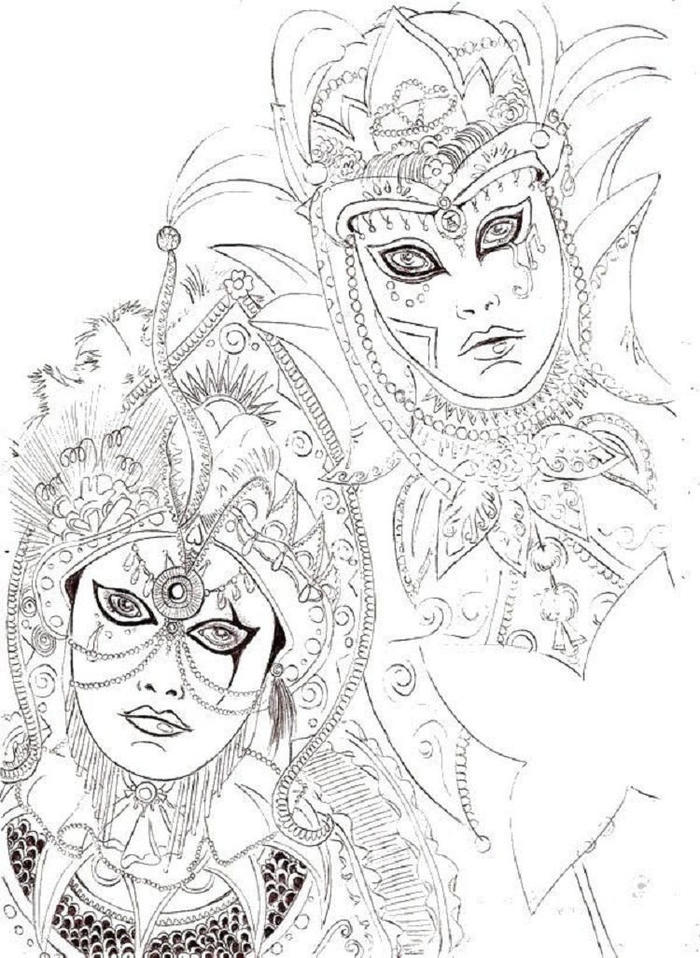 Venice Carnival Coloring Pages