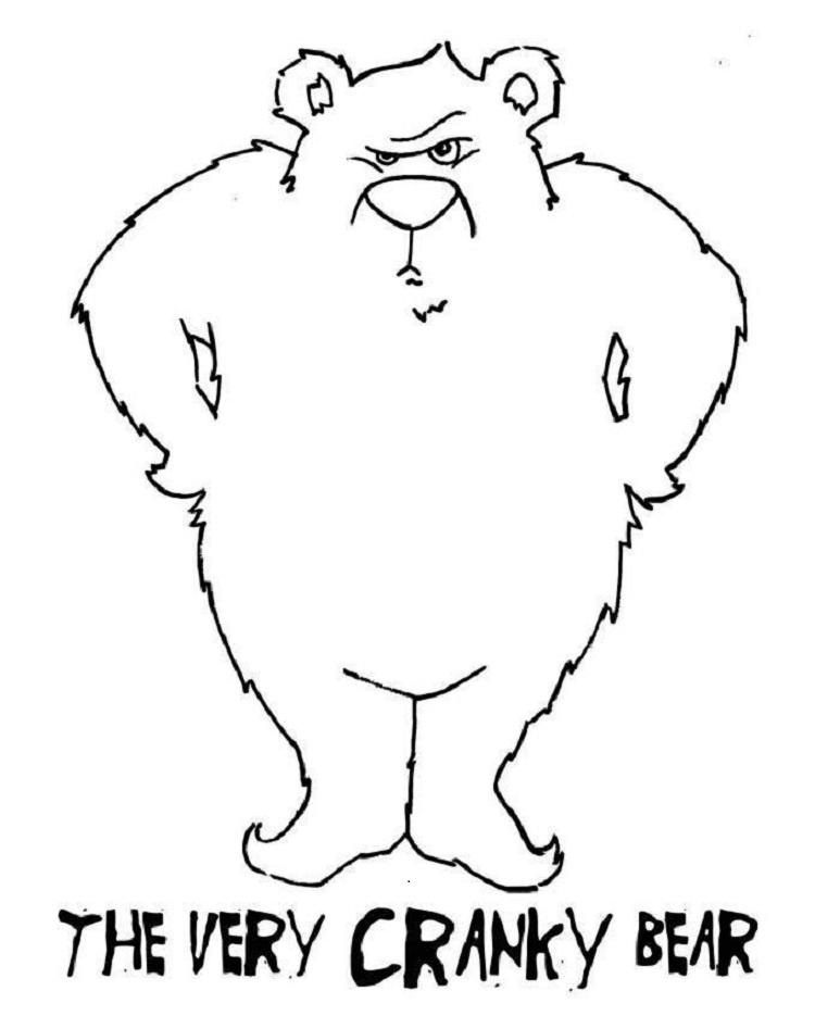 Very Cranky Bear Coloring Pages