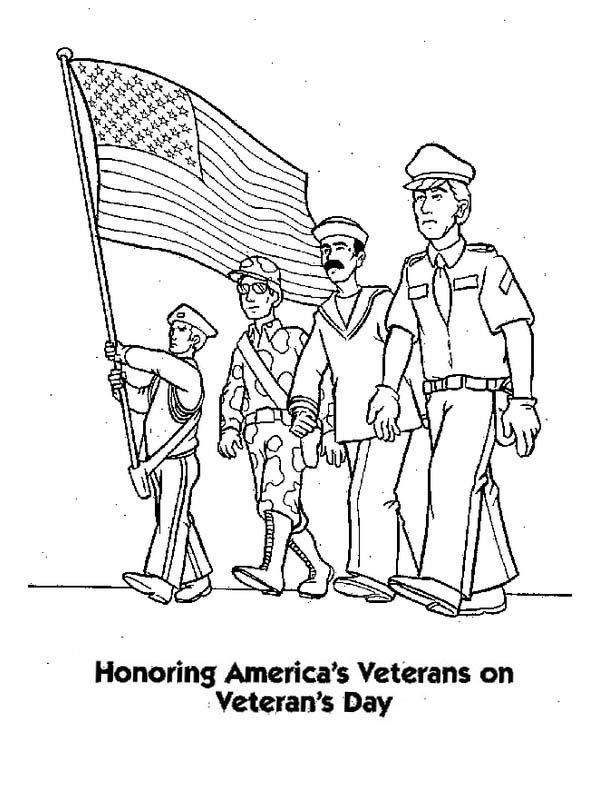 Veterans Day Coloring Pages Honoring Veterans