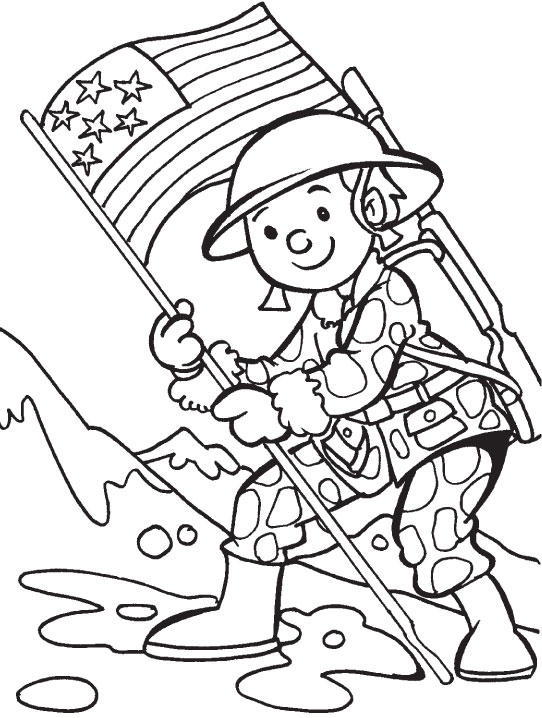 Veterans Day Coloring Pages Soldier