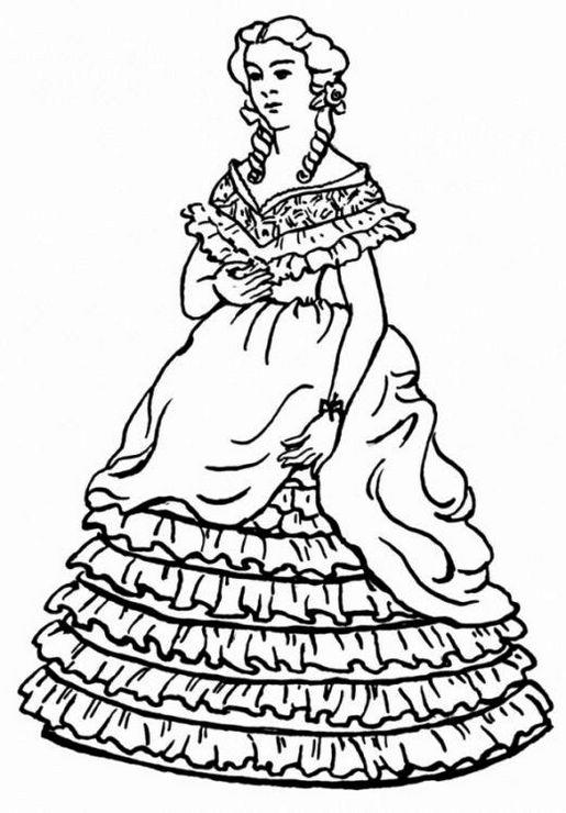 Victorian Fashions Coloring Page