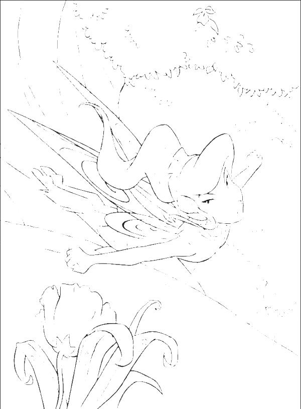 Vidia Flying Tinkerbell Coloring Page