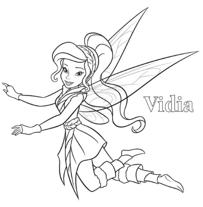 Vidia Tinkerbell Coloring Page