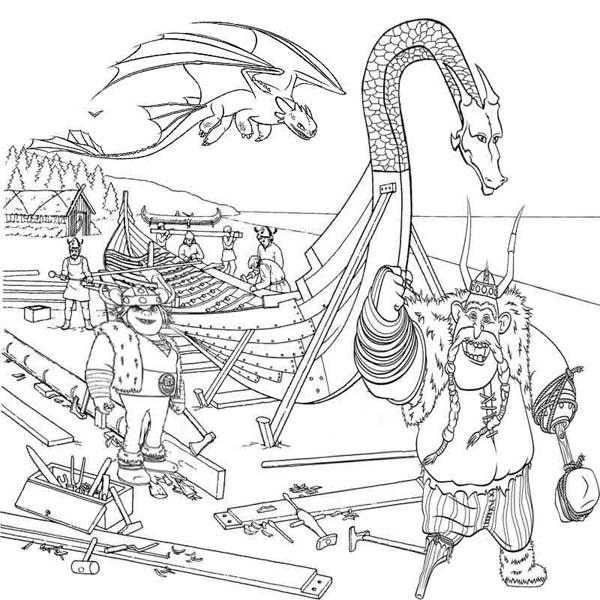 Vikings People From How To Train Your Dragon Coloring Pages