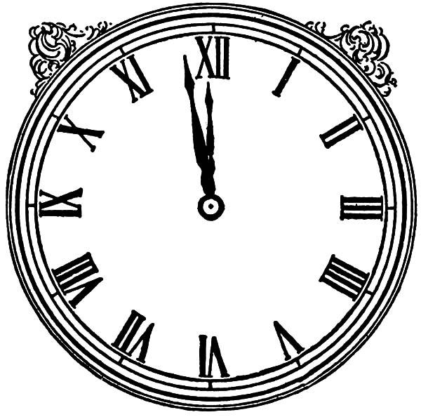 Vintage Analog Clock Coloring Pages