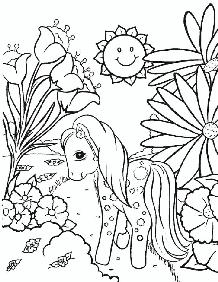 Vintage My Little Pony Coloring Pages