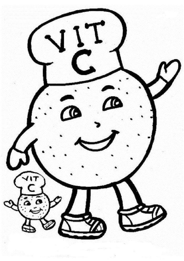 Vitamin C Coloring Pages Free