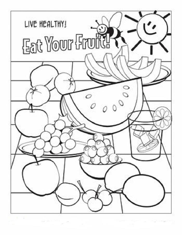 Vitamin C Coloring Pages Rich Foods