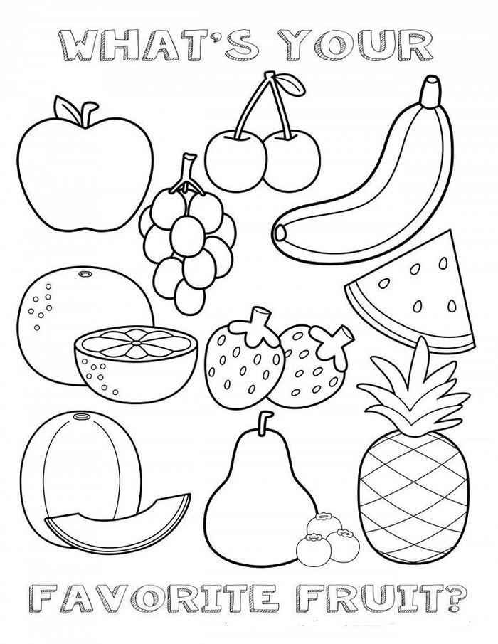 Vitamin C In Fruits Coloring Pages