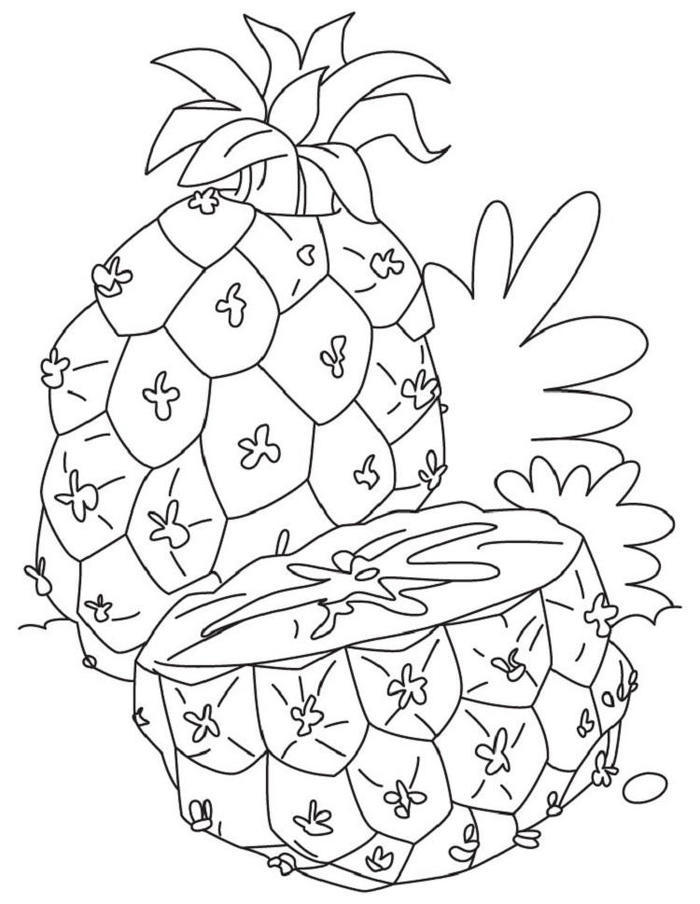 Vitamin C In Pineapple Coloring Pages