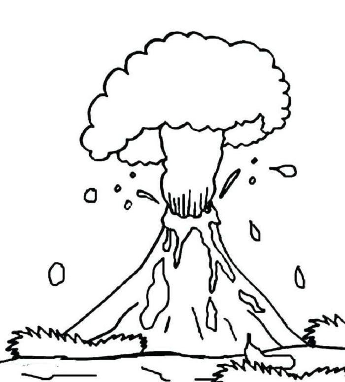 Volcano Coloring Pages For Elementary School