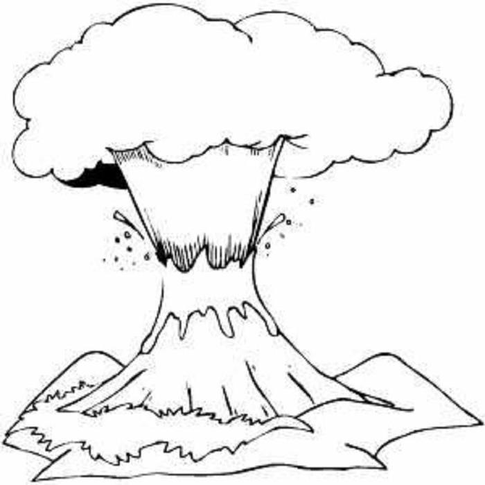 Volcano Coloring Pages For Preschool