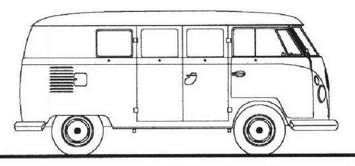 Volkswagen Bus Coloring Pages