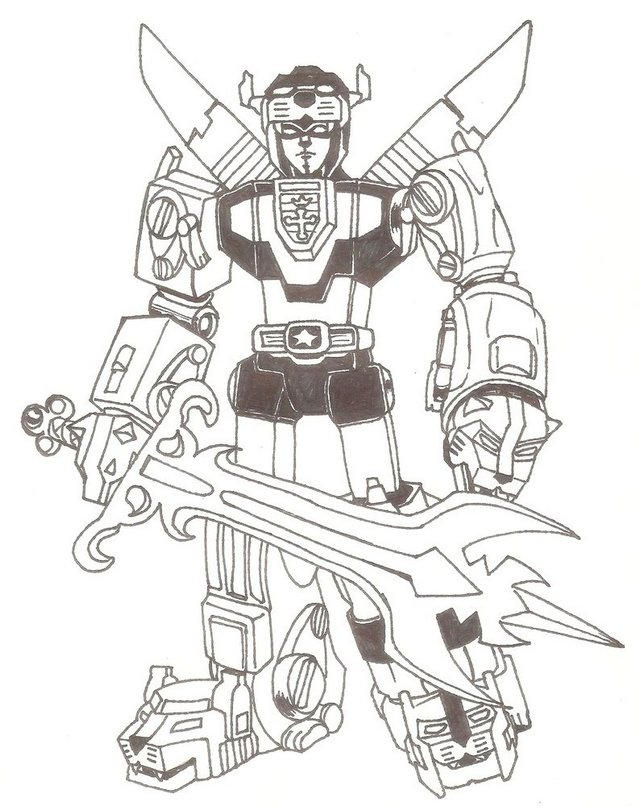Voltron Defender Coloring Sheet For Boys