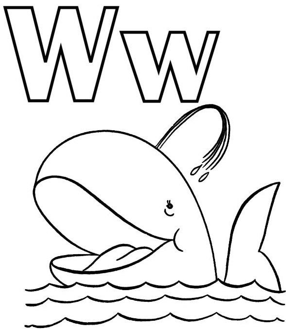 W Coloring Page For Preschoolers
