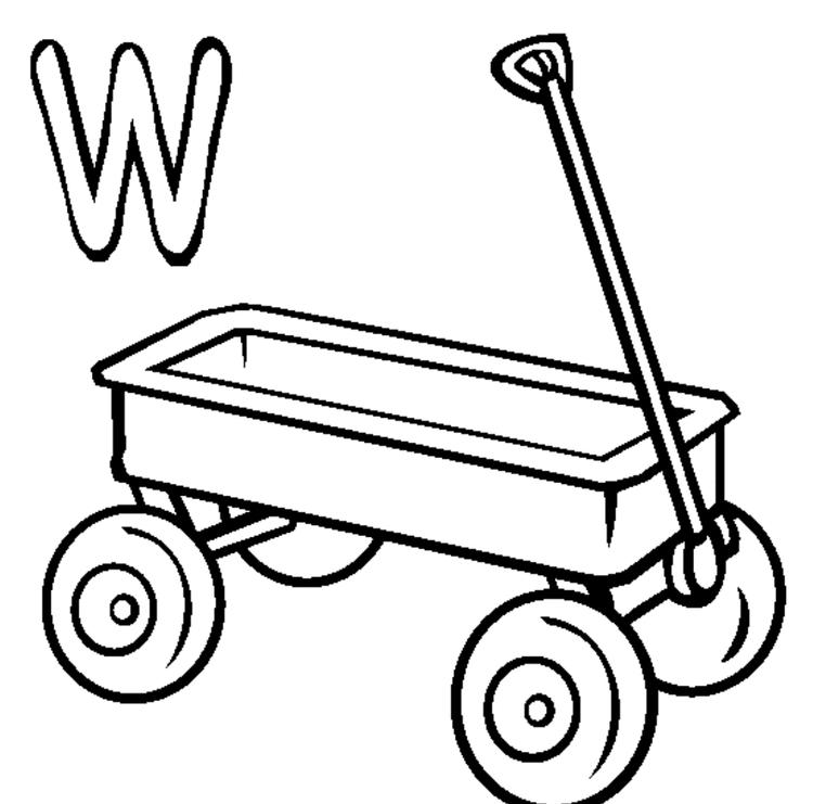 Wagon Free Alphabet Coloring Pages