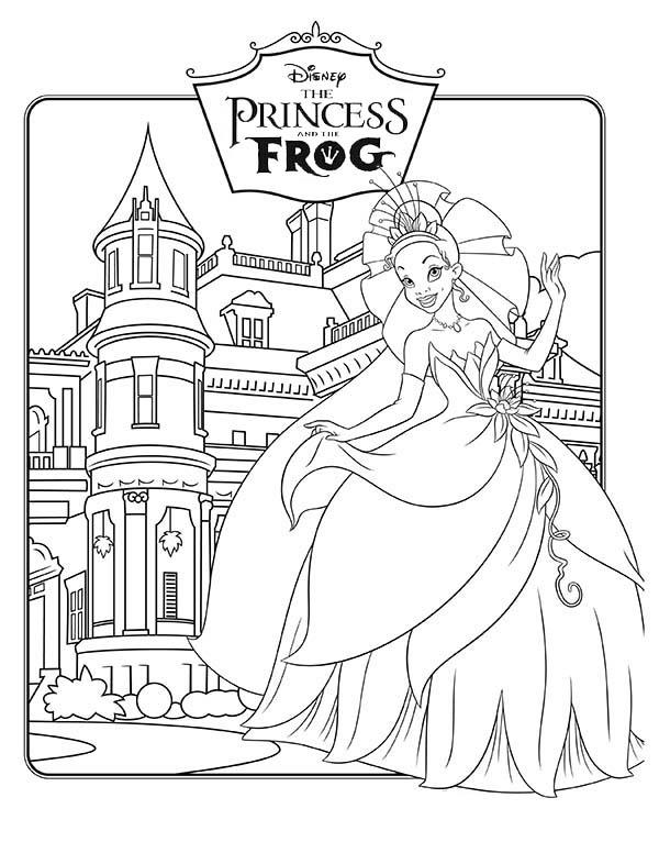Walt Disney Princess And The Frog Coloring Pages