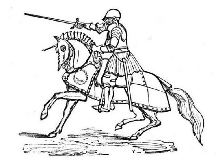 War Horse Knights Coloring Pages