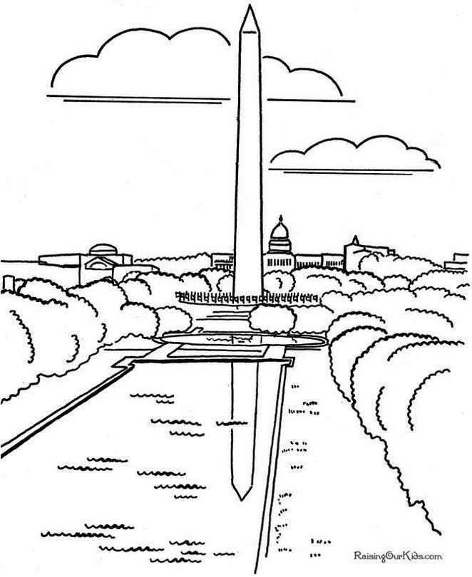 Washington Monuments Coloring Page To Print