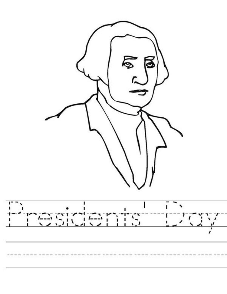Washington Presidents Day Coloring Pages