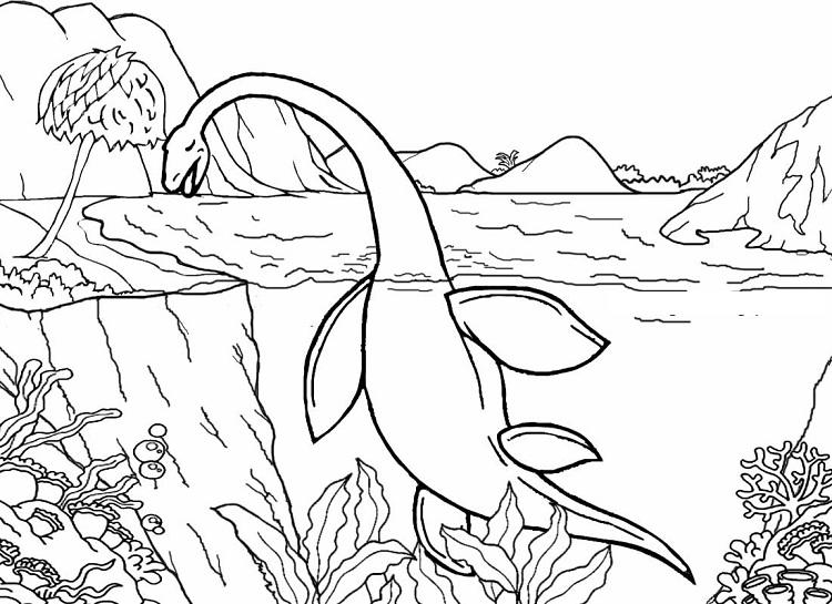 Water Dinosaur Coloring Pages