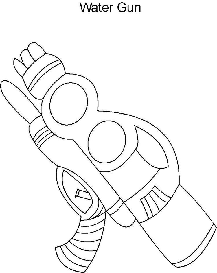 Water Gun Coloring Pages