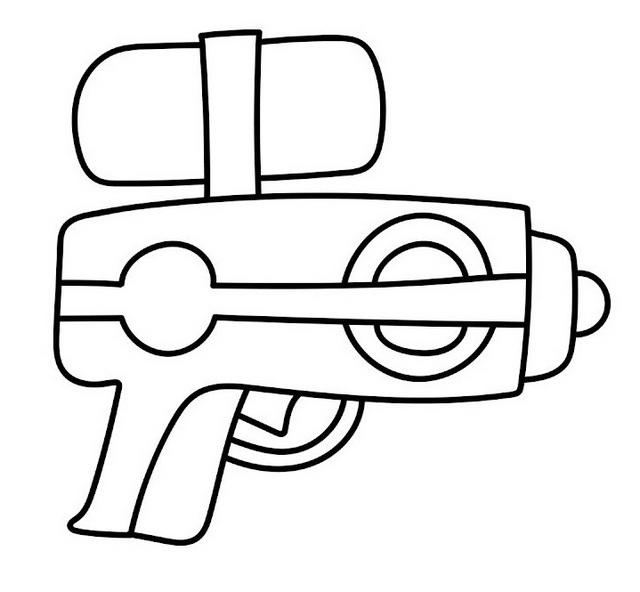 Water Pistol Coloring Page For Children
