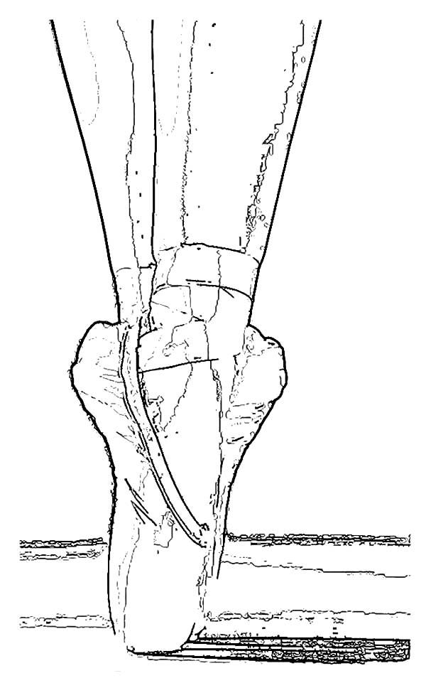 Wearing Ballerina Shoes Coloring Pages