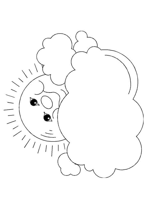 Weather Coloring Pages Cloudy